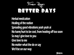 better days by franco with lyrics
