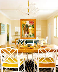 sybaritic spaces yellow dining rooms