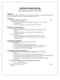 Sap Mm Resume Download Ashley Bush Hardy Resume Docshare Tips