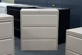 Lateral File Cabinets Used Haworth 3 Drawer Lateral File Filing Cabinets