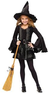 candy corn witch halloween costume black hooded gown witch vampire costume ideas girls witch costume