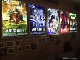 led lights for home theater 2017 a1 movie poster cinema snap frame led lightbox light up home