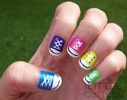 how to paint miniature converse sneakers on your nails girls