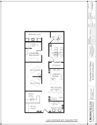 sample plan with open therapy rooms and semi open adjustment rooms