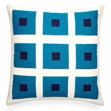 reversible peter pop turquoise throw pillow 22 x 22 jonathan adler