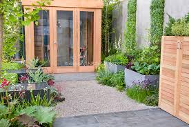 Urban Veggie Garden - modern small space vegetable garden with raised beds patio