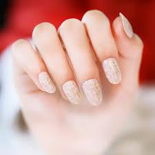 set golden pattern round small pre design fake nails japanese
