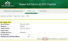 nc withholding tables 2017 how do i change the allowances on my form w 4 and nc 4 unc