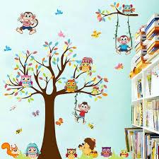 dessin chambre enfant le nouveau dessin animé autocollants arbre mobilisation chambre