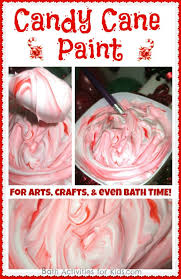 candy cane christmas paint recipe shaving cream red food color
