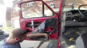 removing window motor on a ford f150 f350 1982 96 youtube