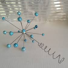 popular items for modern ornaments on etsy atomic molecular snow