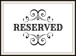 reserved signs for wedding tables table reserved signs best table 2018