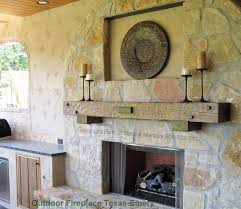 outside fireplace mantels deck design and ideas