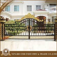 sliding wrought aluminum gate entrance gate home decor of new