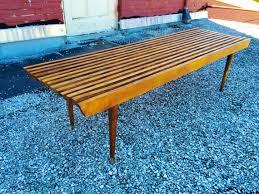 Slat Bench Coffee Table Danish Inspired Mid Century Modern Teak Slat Bench It Is