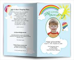 12 child funeral program templates free u0026 premium download