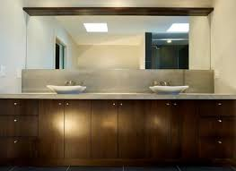 furnitures tiny white glass bathroom cabinet on wood floor
