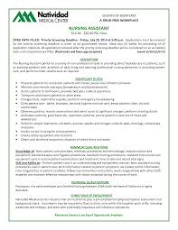 Examples Of Nursing Assistant Resumes Resume Cover Letter Samples Nursing Assistant