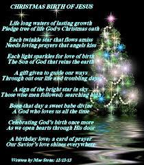 christmas birth of jesus holiday poems