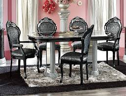 silver dining room black and silver dining room set of exemplary black and silver