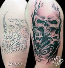 skull back designs skulls cover up paul berkey stuff