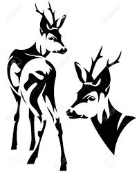 deer clipart elegant pencil and in color deer clipart elegant