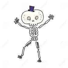 Halloween Skeleton Cartoon Drawn Skeleton Cartoon Pencil And In Color Drawn Skeleton Cartoon