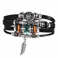 leather bracelet woman images Cobra jewelry owl leather bracelet for men and woman new jpg