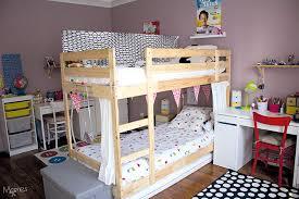 partager une chambre en deux séparer une chambre pour 2 enfants avec un lit superposé momes