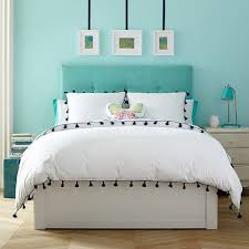 Pb Teen Bedrooms Essential Upholstered Storage Bed Pbteen