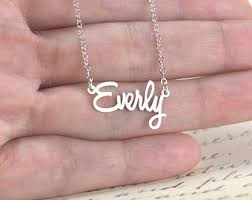 name plate jewelry nameplate necklace etsy