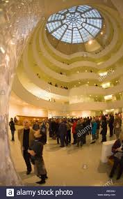 guggenheim museum and art gallery interior designed by frank lloyd