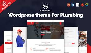 plumbing wordpress theme for repairing construction and