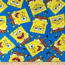 spongebob packed fleece discount designer fabric fabric com