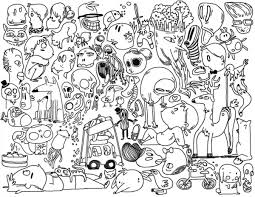 printable doodle art coloring pages