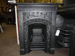 victorian arts and crafts cast iron fireplace 209mc old