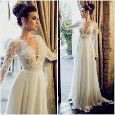 lace wedding dress with sleeves open back wedding dresses with sleeves naf dresses