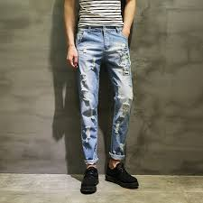 Ripped Knee Jeans Mens Search On Aliexpress Com By Image