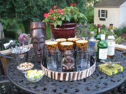 outdoor table decor for the deck afrocentric garden decorating