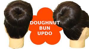 donut bun hair hair style three minute doughnut donut bun updo