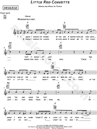 corvette chords prince corvette sheet leadsheet in c major