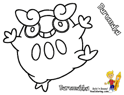 pokemon coloring pages darumaka 3 olegandreev me