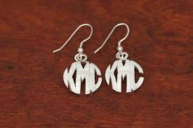 monogram earrings monogram earrings small size ambriz jewelry