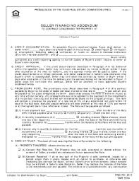 how to fill out seller financing addendum fill online printable
