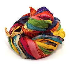 sari silk ribbon darn yarn recycled sari silk ribbon 55 yards