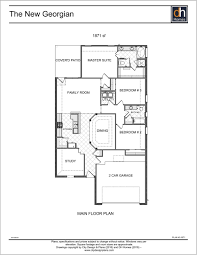 Georgian Floor Plan by Dh Homes