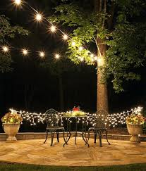 Outdoor Hanging String Lights How To Hang Backyard String Lights Hanging Outdoor Solar String