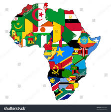 Political Map Africa by Political Map Africa Country Borders National Stock Illustration