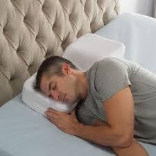 the two position sleeper u0027s pillow hammacher schlemmer